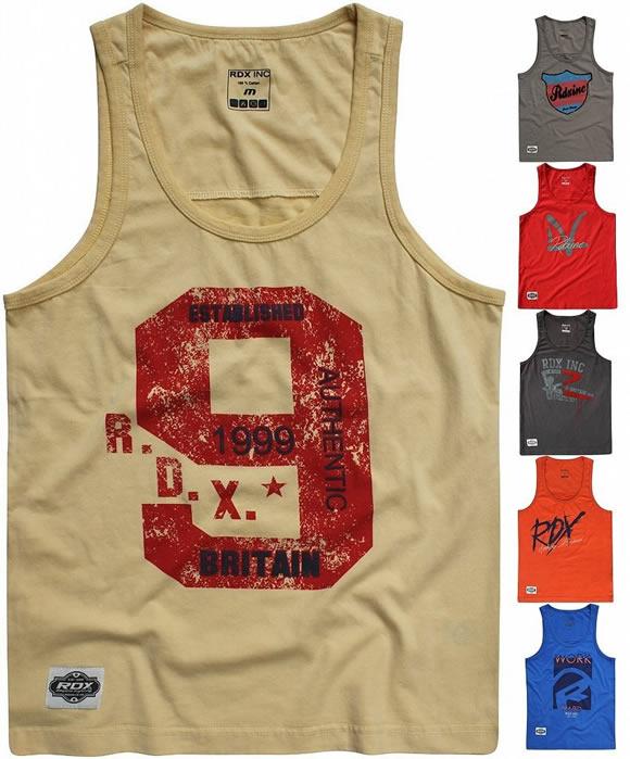 RDX Mens Top Gym Tank BodyBuilding Stringer Workout Vest TShirt Fitness Boxing D