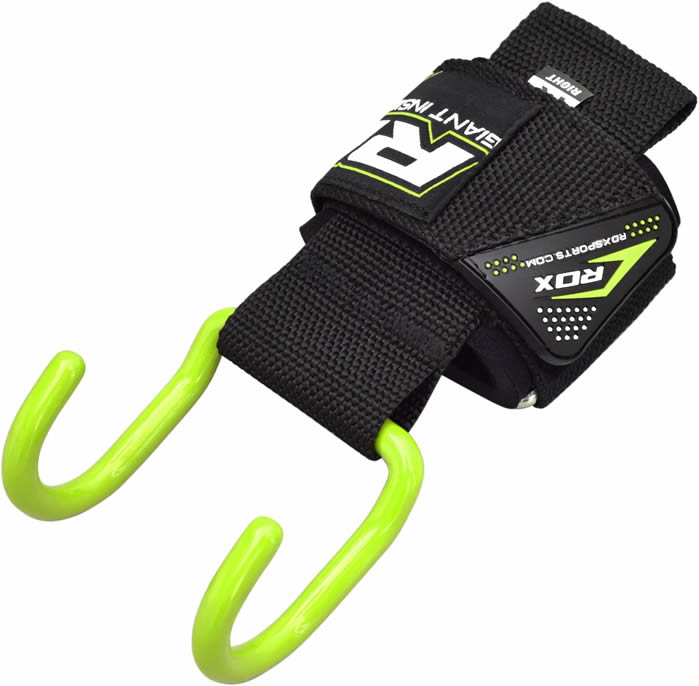 Rdx Leather Weight Lifting Grips Training Gym Straps: RDX Gym Hook Grips Weight Lifting Wrist Straps Gloves