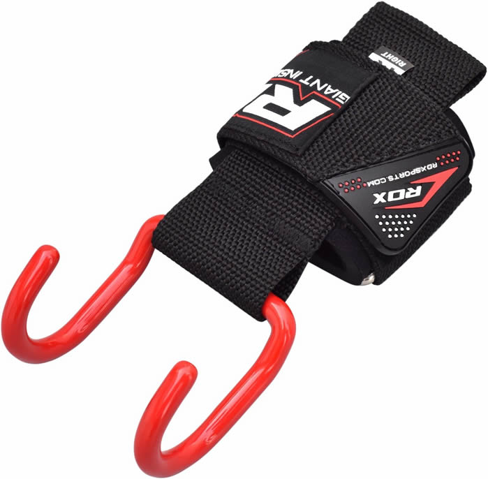 Rdx Weight Lifting Gloves Training Bodybuilding Gym Power: RDX Weight Lifting Training Gym Hook Grips Straps Gloves