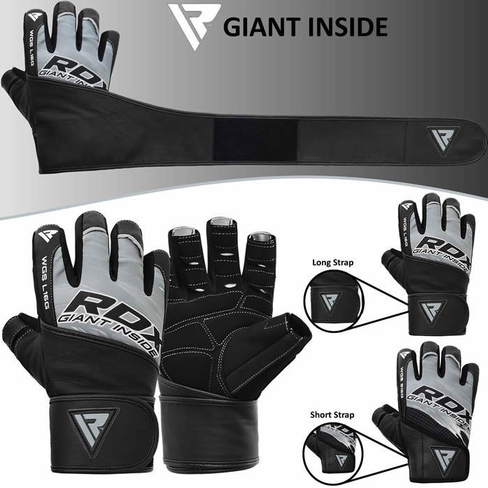 Rdx Bodybuilding Gym Gloves Training Workout Weight: RDX Leather Weight Lifting Body Building Gym Gloves