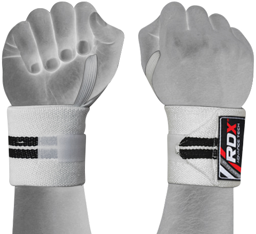 Dam Weight Lifting Gym Gloves Body Building Workout White: RDX Wrist Weight Lifting Training Gym Straps Support Grip